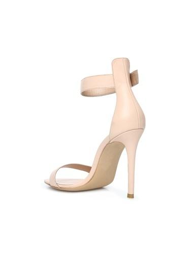 Divarese 5025002 Bantlı Kadın Deri Sandalet Pudra